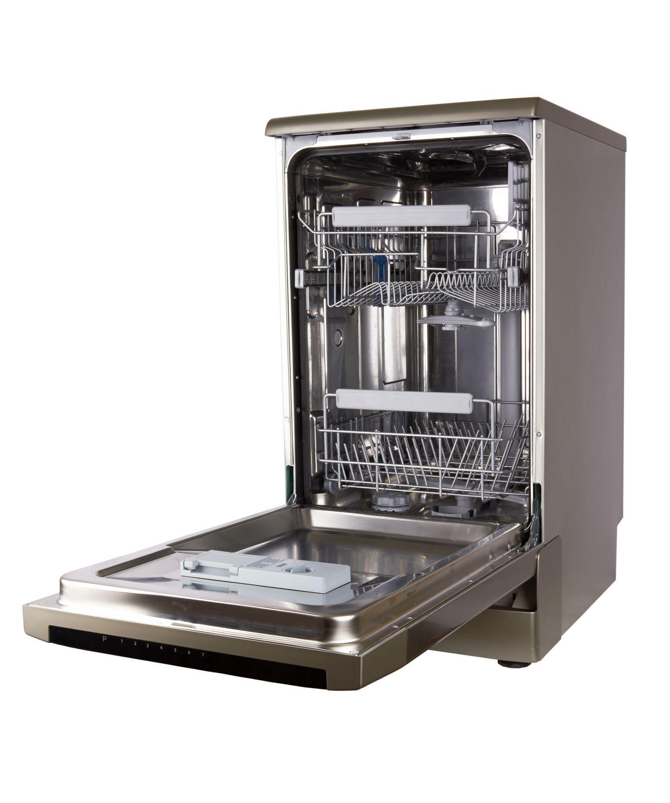 Dishwasher machine isolated on a white background